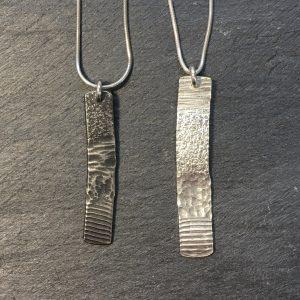 Strata pendants by Silverfish Designs