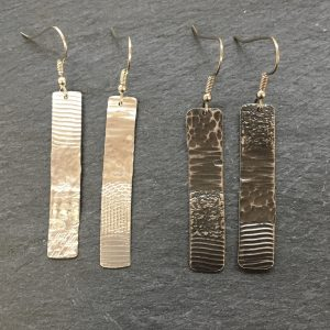 Strata drop earrings by Silverfish Designs