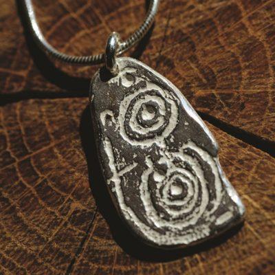 Llwydiarth Esgob Stone range of Rock Art jewellery from Silverfish Designs