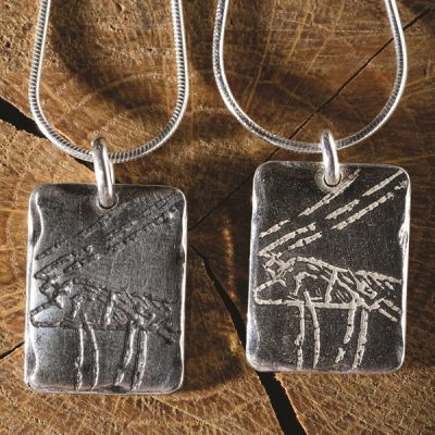 Cathole Cervid - range of silver jewellery from Silverfish Designs