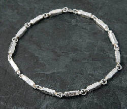 "Necklace from the ""Chunky"" range silver jewellery of Silverfish Designs"