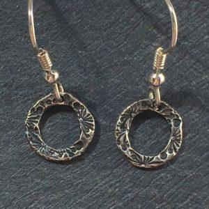 Flora bud drop earrings from Silverfish Designs