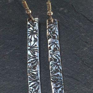 Flora Stem Drop Earrings from Silverfish Designs