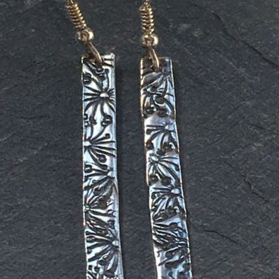 Flora Stem Drop Earrings from Silverfish Designs