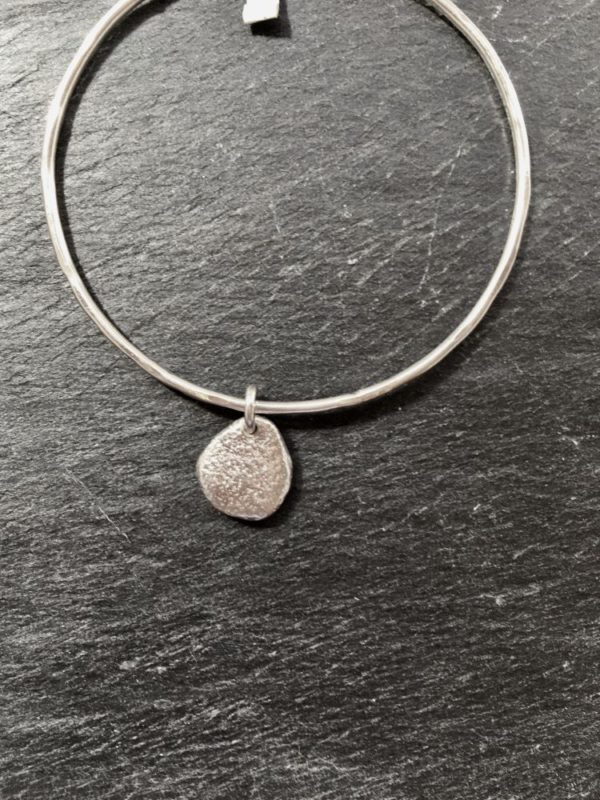 Pebbles bangle medium by Silverfish Designs