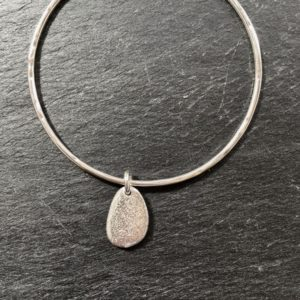 Pebble bangle medium from Silverfish Designs
