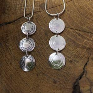 Barclodiad Triple Pendant - from Silverfish Designs