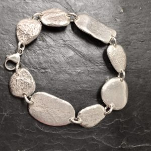 Pebble bracelet, handmade by Silverfish Designs