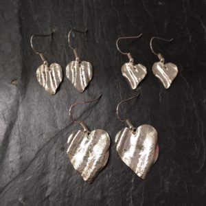 ribbon heart drops by Silverfish Designs